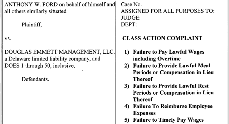 Ford Class Action Case Header